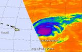 NASA sees a weakening Hurricane Ignacio moving parallel to Hawaiian Islands